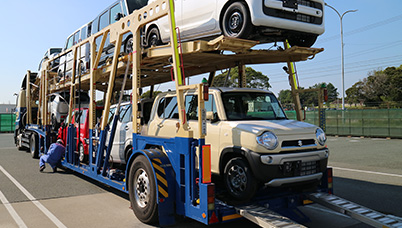 We transport new vehicles produced by brands other than Toyota.